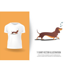 funny dog sings song prints on t-shirts vector image
