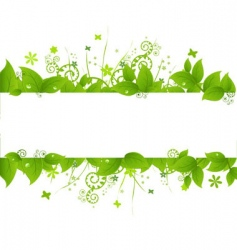 green leaves and grass vector image
