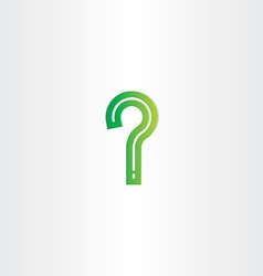 green question mark stylized vector image