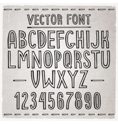 Hand drawn font alphabet vector