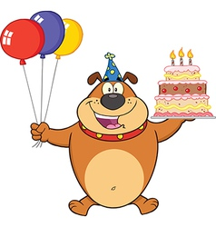 Happy birthday dog cartoon vector