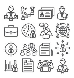 head hunting line icons on white background vector image