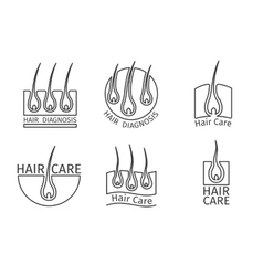 Healthy hair logos Epilation and extensions vector image