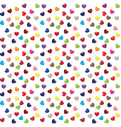 hearts for valentine s day sale seamless pattern vector image