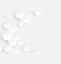 hexagon concept design abstract technology vector image