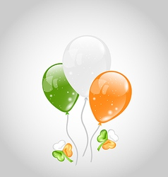 Irish colorful balloons with clovers for St vector