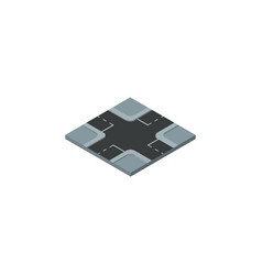 Isolated crossroad isometric intersection vector