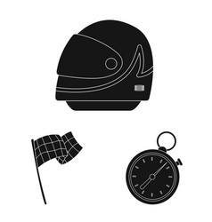 isolated object of car and rally logo collection vector image
