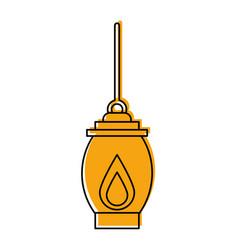 Kerosene lamp light camping antique element vector