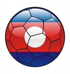 Laos flag on soccer ball vector