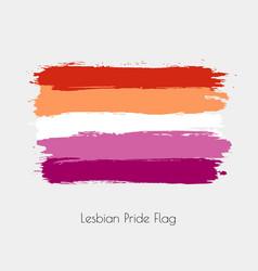 Lesbian lgbt watercolor flag vector