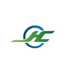 letter j h c logo design concept template vector image