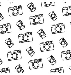 line digital camera electronic object background vector image