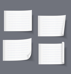 Lined Sticky Papers vector image