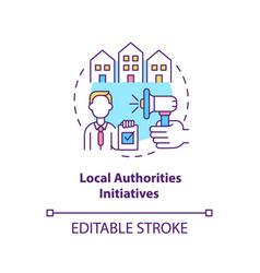 Local authorities initiatives concept icon vector