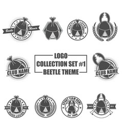 Logo collection set with beetle theme vector