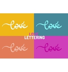 Love hand-drawn lettering vector