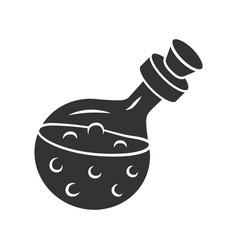 Magic potion bottle glyph icon silhouette symbol vector