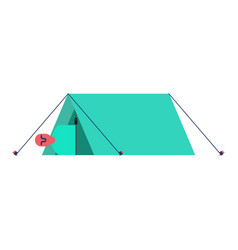 man in tent camp booth vector image