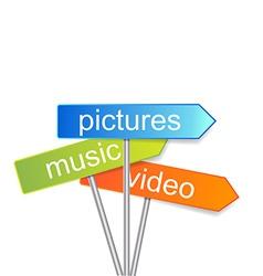 Media signs indicator vector