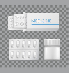 medicine packaging drugs silver blister painkiller vector image