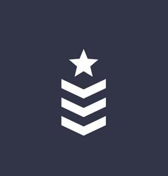 Military rank army vector