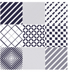 minimal lines seamless patterns set abstract vector image