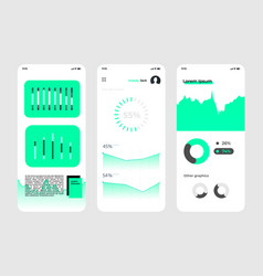 Mobile app design ui concept ux template vector