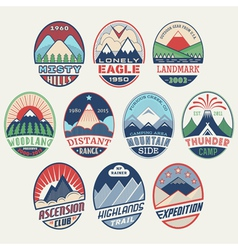 Mountain badge set2color vector image