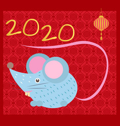 mouse symbol new year 2020 festive vector image