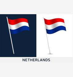 netherlands flag waving national flag vector image