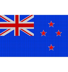 New Zealand flag embroidery design pattern vector