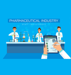 pharmaceutical industry staff recruitment vector image