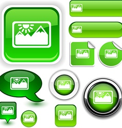 Picture green signs vector image