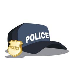 police hat blue officer cop vector image