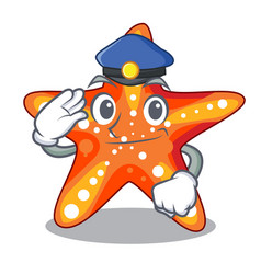 police starfish beside the in character beach vector image