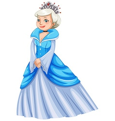Queen in blue dress vector image