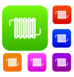 radiator set color collection vector image