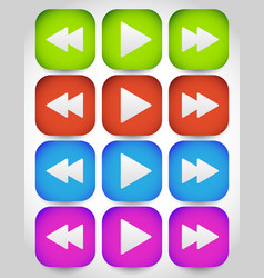 rewind play fast forward navigation buttons vector image