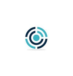 Round shape line circle target logo vector