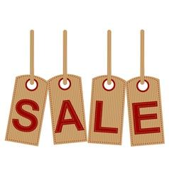 Sale tag retro design vector image vector image
