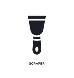 Scraper isolated icon simple element from vector