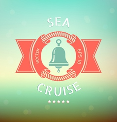 sea cruise bell vector image