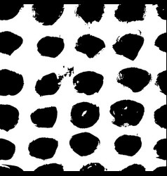 seamless grunge polka pattern black and vector image