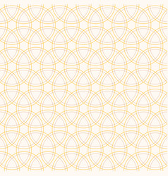 seamless pattern with intersecting circles vector image