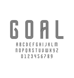Set alphabets font modern abstract design with vector