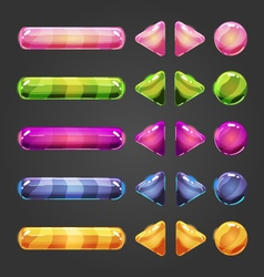 Set of game interface button color-2 vector
