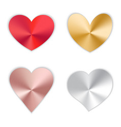 Set of hearts with gradient vector