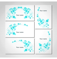 Set of white business visiting cards vector