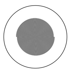 Spiral icon black color in round circle vector
